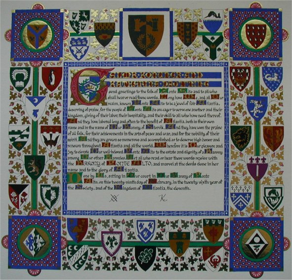 Baronial Charter Scroll